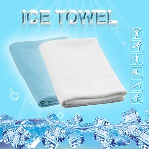 Ice Serviette le Super Cool, Super absorbante, séchage rapide Serviette pour le yoga, course, fitness, escalade, Golf, etc., blanc
