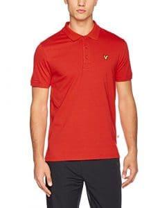 Lyle & Scott Golf Kelso Tech Pique T-Shirt Homme, Pavilion Red, S