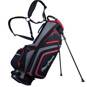 Macgregor 2017 Tourney PLUS 9″ Stand Bag Mens Golf Carry Bag 7-Way Divider Black/Red