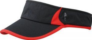 Myrtle Beach Running Pare-soleil Uni Taille unique noir/rouge