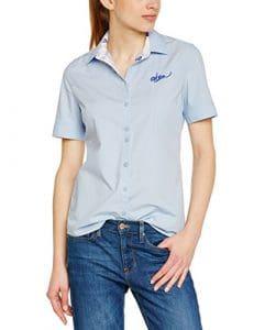 Oxbow Arraki Chemise manches courtes Femme Bleu Ciel FR : L (Taille Fabricant : 2)