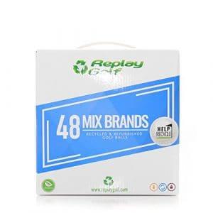 Replay Golf Box 48Balles de golf recyclées Mix