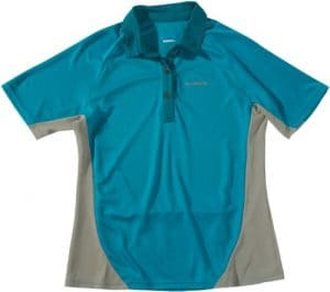 Shimano CW-JSRSK-S01WG Polo à manches courtes pour femme Jersey Turquoise Taille L