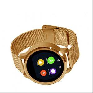 Smart Watch Bluetooth Montre de Sport Intelligente Montre,Moniteur Fréquence Cardiaque,Sweatproof,Podomètres,Ecran LCD HD IPS,Compteur de Calories,avec écran tactile et appareil photo distance pour iPhone/Samsung/Android
