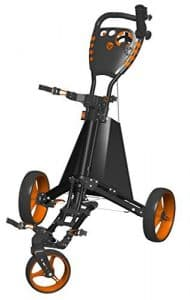 Spin It Golf Products Easy Drive Golf Push Cart, Black/Orange by Spin It Golf Products, LLC