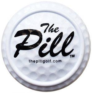 The Pill One Shot Balle d'entraînement au putting Blanc