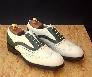 Tollis Shoes , Chaussures de golf pour homme Multicolore Bianco e verde Uomo