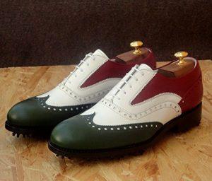 Tollis Shoes , Chaussures de golf pour homme Multicolore bianco, verde e rosso Uomo
