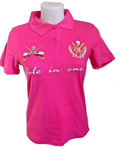 VIA PRINT Polo maille piquée coton Femme Fuschia Tailles L GOLF Gold