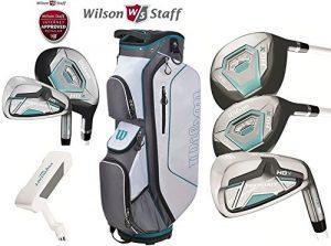 Wilson Prostaff HDX Deluxe pour femmes Graphite Ensemble Complet Club De Golf & prostaff Sac Chariot