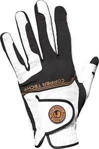 2017en cuivre Tech fine All Weather Gant de golf pour homme Technologie de nid d'abeille (main gauche) Taille unique, Homme, blanc/noir