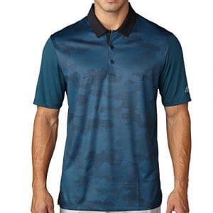 Adidas Golf pour homme Climachill? Imprimé camouflage Polo, Homme, Utility Green