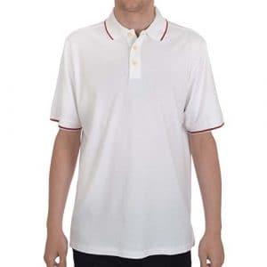 Ashworth ez-tech pour homme en coton uni Polo de golf pour homme multicolore Blanc/Rouge moyen
