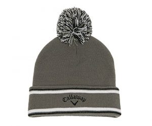 Callaway 2015 Weather Series Pom Pom Beanie Mens Golf Winter Bobble Hat Charcoal