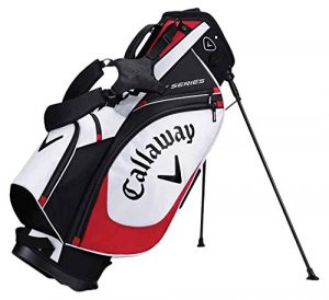 Callaway 2017 X Series Stand Bag Mens Golf Carry Bag-6 Way Top White/Black/Red