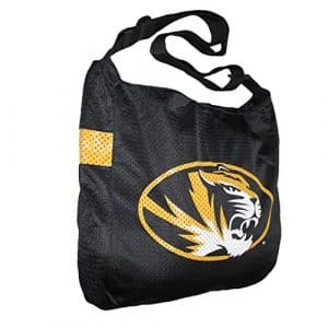 COLLECTIONNEUR ITEM: NCAA Missouri Tigers Jersey Large Tote / Umhängetasche – noir