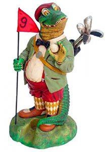 Crocodile als Golf Caddy verkleinert 76cm pour l'extérieur en polyrésine