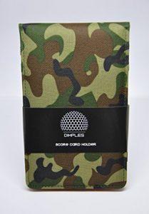 Dimples by bomax, Top Tendance Score Cartes Support en Camouflage Score Card Holder, Idée de Cadeau pour les golfeurs, Camouflage green