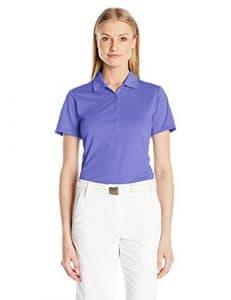 EP Pro Golf pour femme à manches courtes solide Tech Polo, femme, Violet lie-de-vin