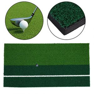 Forfar Zone de lancement de golf Frapper au golf Tapis de tapis matelassé de 12 po x 24 po Équipement de pratique de putting indoor