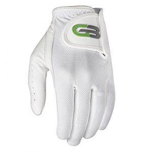 GO Golf seconde peau Cuir de vachette pour homme Gant de golf, Homme, blanc