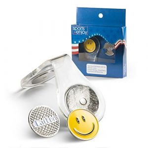 Marqueur de balle de golf magnétique Clip–avec deux marqueurs–fixer sur vos vêtements, Sac, chapeau, ou portefeuille–robuste, facile d'utilisation–Mécanisme magnétique–Transparente qui va avec tout ce que–pour Homme et pour femme