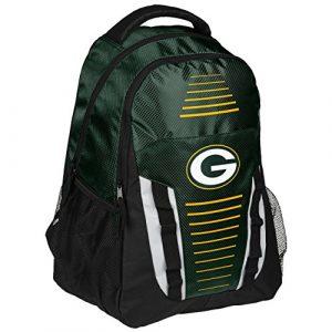 NFL Logo de l'équipe à rayures Franchise Sac à dos, Green Bay Packers