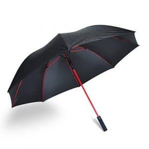 Parapluie de golf coupe-vent par Ambrellaok 152,4cm Grande ouverture automatique pluie UV protection Parapluie, 3D black