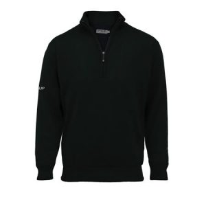Proquip Aquastorm Men's en laine d'agneau avec demi-fermeture éclair imperméable non doublé tricot Wear Pull-Noir-Taille L