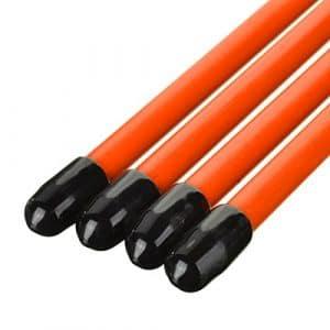 Bâtons d'alignement de golf Aid pliable Bâtons pour golf–Orange (2pcs)