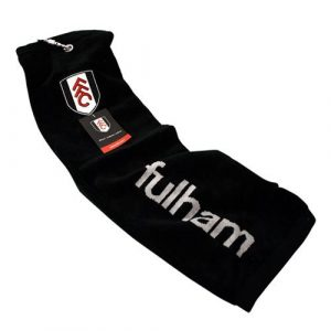 Fulham FC Trifold Jacquard Golf Towel – Black/White/Red by Fulham F.C.