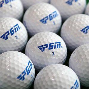Geshiglobal 2pcs double couches Practise Balles de golf d'entraînement Hit Away Distance de balle de golf