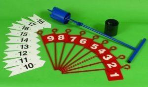 Golf trou Coque Cutter drapeaux Arrows Pitch & putt de golf équipement–Vendu séparément, Arrows – No. 1-9