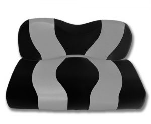 Madjax WAVE 2007-Up Black/Silver Two-Tone Front Seat Covers for Yamaha G29 Drive Golf Carts by Golf Cart King