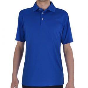 Men's Ashworth Performance EZ-SOF Polo de Golf à manches courtes Bleu petit