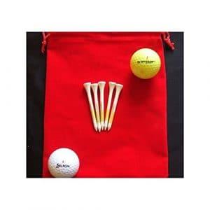 Mini serviette de golf rétractable Blanc, clip n'importe où. White Reel 20cm x 20cm