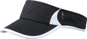 Myrtle Beach Running Pare-soleil Uni Taille unique noir/blanc