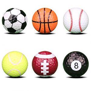Obling Balle de Golf Fantaisie Coloré Different Motif Balle d'Entraînement 4,26cm de Diamètre