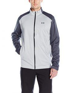Under Armour 2016 Storm 3 Full Zip Waterproof Mens Golf Rain Jacket Overcast Gray XL