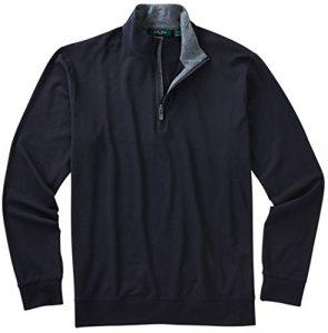 Bobby Jones pour homme liquide Coton Pull zippé 1/4 XL noir