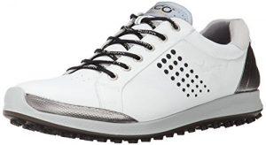 Ecco Men's Golf BIOM Hybrid 2, Chaussures de Golf Homme – Blanc – Weiß (WHITE/BLACK51227), 39