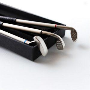 Mini clubs de golf partitions Accessoires Gadgets en forme de fers et bois et cales avec boîte de cadeaux d'entraînement pour les amateurs de golf que pour pères 2018et pour la fête ou enseignants et diplôme ou pour homme et femme (par Hongred)