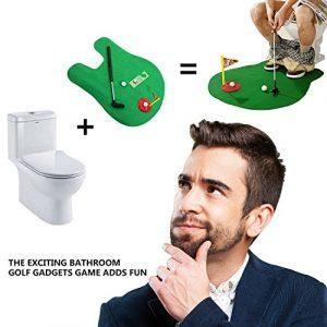 Oriental elife toilettes Golf, Mat Pot Putter toilette temps Golf nouveauté drôle jeu sport salle de bain Mini Golf formation – grand cadeau de bâillon