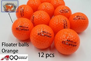 A99 flottant Balle de golf Floater Float Eau Gamme 12 pcs, Orange