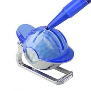 A-szcxtop marqueur de balle de golf Liner Clip Ball liner donnant l'alignement Outil, bleu