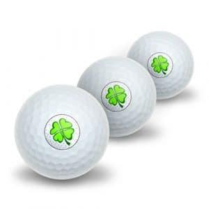 Beaucoup de Chance–Lucky Irish Trèfle à quatre feuilles Novelty Balles de golf Lot de 3