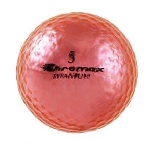 Chromax Haute visibilité M1X Balles de golf, Lot de 6balles (nouvelle version), mixte, rose