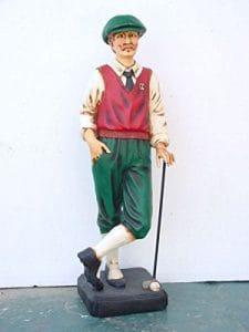 Golfeur avec Raquette verkleinert 105cm pour l'extérieur en polyrésine