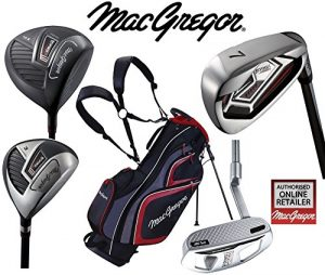 MacGregor Response Deluxe pour homme Graphite Golf TP12018et ensemble de sac de golf avec support pour homme droitier