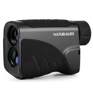 Naturalife Laser Télémètre 600m pour Golf, Chasse, Activités d'Extérieur,Précision de Distance 0.5m,Grossissement x 6,Speed Range18-300km/h,d'Angle 1 °,Dioptrie Ajustable